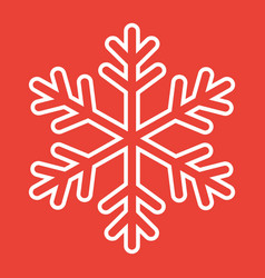 snowflake line icon new year and christmas vector image