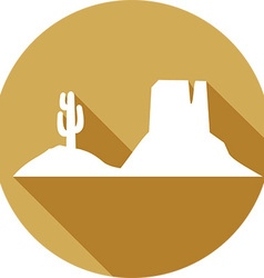 Western Landscape Icon vector image vector image