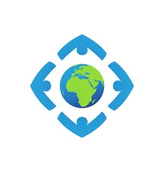 Worldwide-Foundation-380x400 vector image vector image