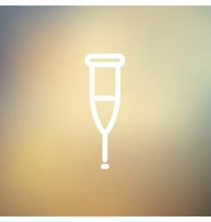 Crutch thin line icon vector image