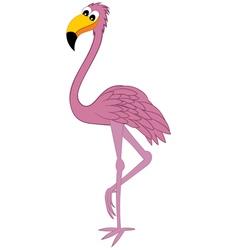 Funny Cartoon Flamingo vector image