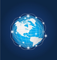Global Network America vector image