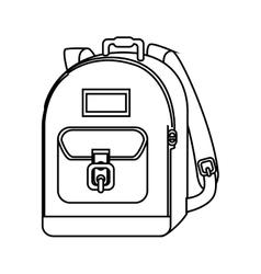 school bag equipment icon vector image