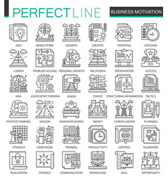 business motivation and discipline outline mini vector image vector image