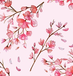 Cherry blossom seamless pattern vector image vector image