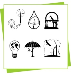 Eco Design Elements and Icons vector image vector image