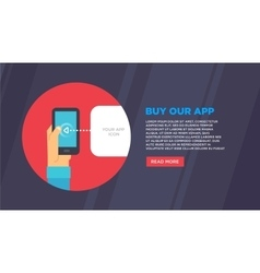 Flat design concepts for mobile email vector image