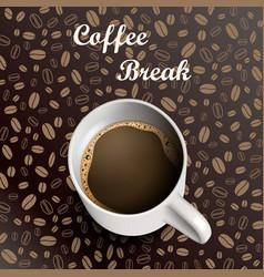 mug coffee background vector image