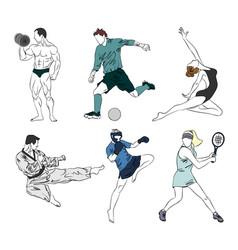 set of six sports vector image