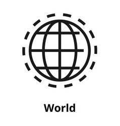world line icon vector image