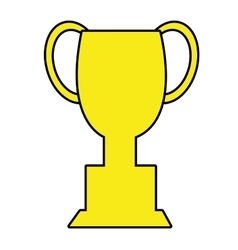 yellow trophy icon front view graphic vector image