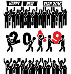 2019 icon man happy new year vector image