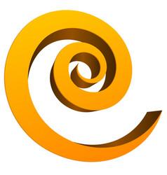 3d spiral element vector image