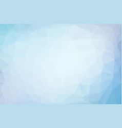 abstract blue white polygonal mosaic background vector image