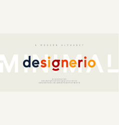abstract minimal modern alphabet fonts typography vector image