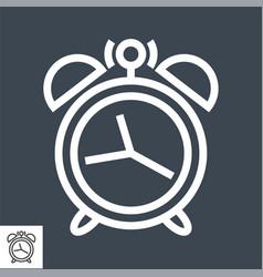 alarm clock thin line icon vector image