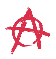 anarchy sign isolated brush strokes grunge style vector image