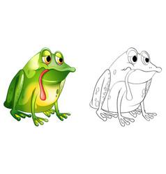 Animal outline for sad frog vector