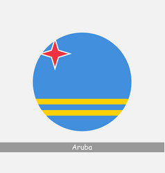 Aruba round circle flag vector