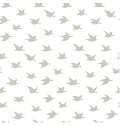 beige swallow birds seamless pattern with birds vector image