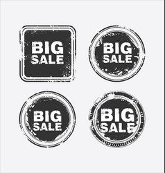 big sale stamp 2 vector image