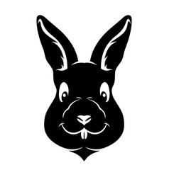 black rabbit sign vector image