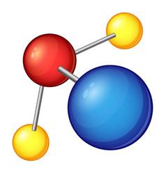 blue molecule icon cartoon style vector image vector image