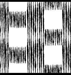 Boho check hand drawn ink seamless pattern vector