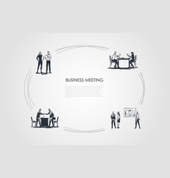 business meeting - business people making vector image
