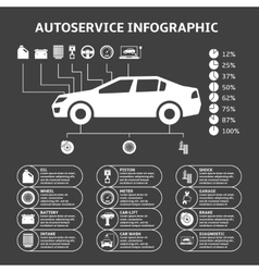Car auto service infographics design elements vector