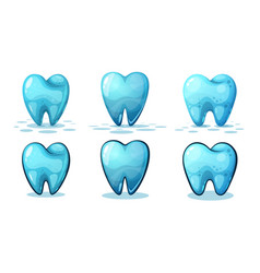 cartoon tooth on white background vector image