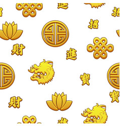 chinese seamless pattern with traditional symbols vector image