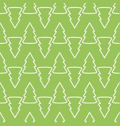 christmas fir tree green art seamless pattern vector image