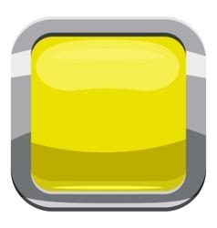 Citron square button icon cartoon style vector
