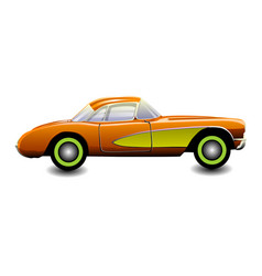classic sports car vector image