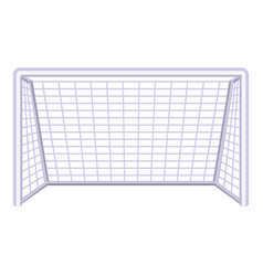 colorful cartoon soccer gate vector image