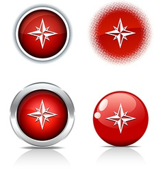 Compass buttons vector
