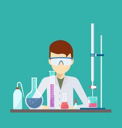 design scientist with laboratory equipment vector image