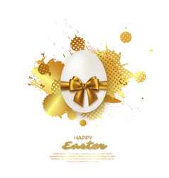 easter golden egg vector image