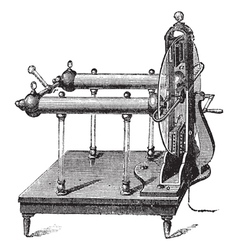 Electrostatic Generator vintage engraving vector image