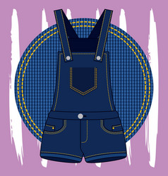 Embroidery patch denim vector