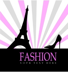 Fashion with paris in the background vector