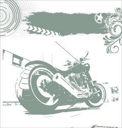 Grunge motorbike background vector