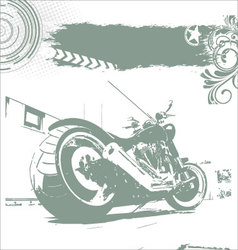 grunge motorbike background vector image