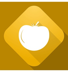 icon of Tomato with a long shadow vector image