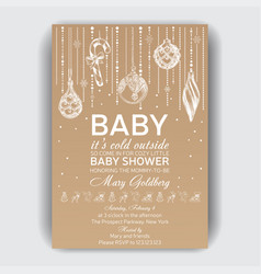 invitation card for baby shower vector image