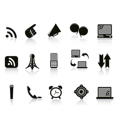 Isolated communication Icons on white background vector image