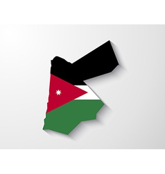 jordan country map with shadow effect presentation vector image
