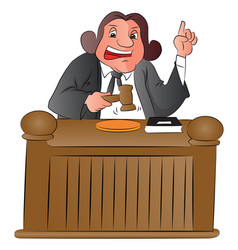 judge with gavel vector image