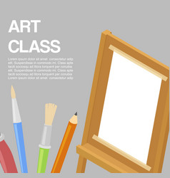 kids art craft education artistic class concept vector image